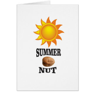 Summer nut in sun card