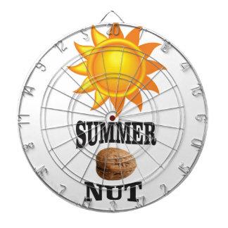 Summer nut in sun dartboard