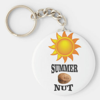 Summer nut in sun keychain