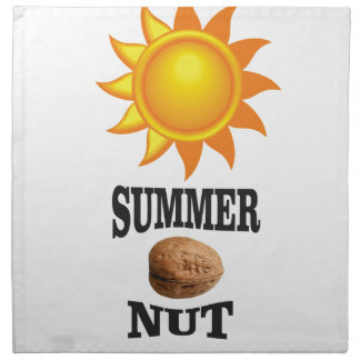Summer nut in sun napkin
