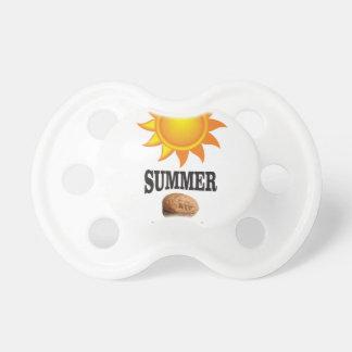 Summer nut in sun pacifier
