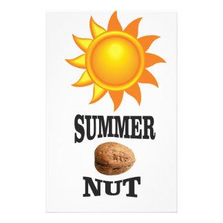Summer nut in sun stationery