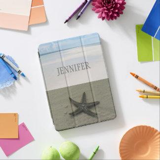 Summer Ocean Starfish Beach Custom Name Case iPad Pro Cover