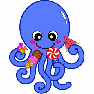 Summer octopus standing photo sculpture