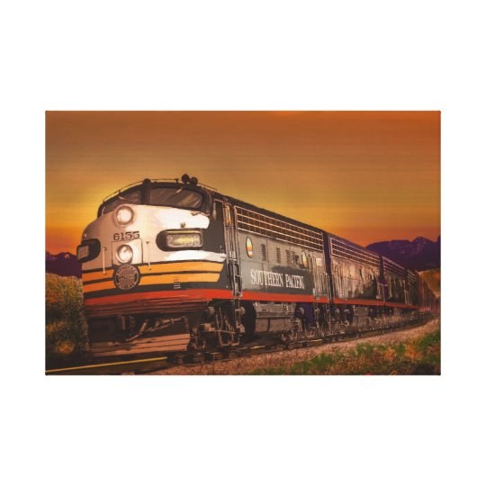 Summer of '52 Southern Pacific F Units in CA Canvas Print
