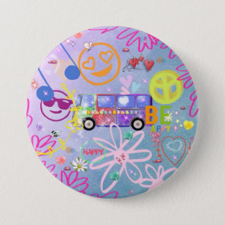 summer of love - the 60s 3 inch round button