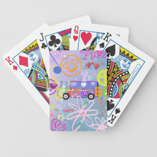 summer of love - the 60s bicycle playing cards