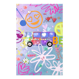 summer of love - the 60s stationery