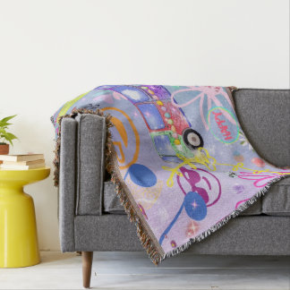 summer of love - the 60s throw blanket