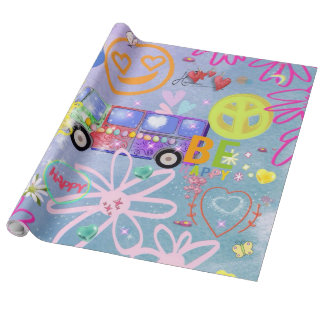 summer of love - the 60s wrapping paper