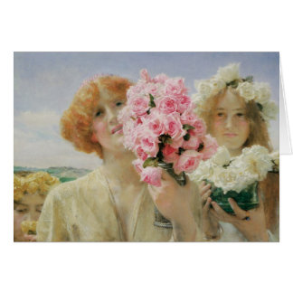 Summer Offering, Alma Tadema, Vintage Romanticism Card