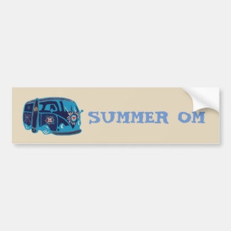 Summer Om Hippie Van Bumper Sticker