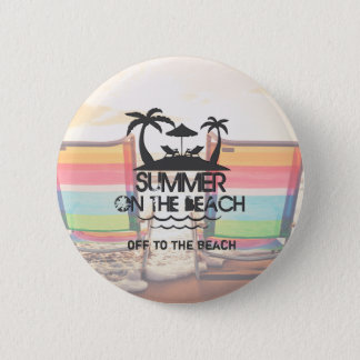 Summer on the  Beach | Personalized 2 Inch Round Button