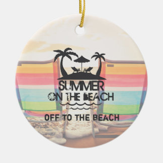 Summer on the  Beach | Personalized Ceramic Ornament