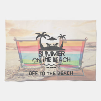 Summer on the  Beach | Personalized Kitchen Towel