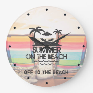 Summer on the  Beach   Personalized Large Clock