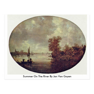 Summer On The River By Jan Van Goyen Postcard