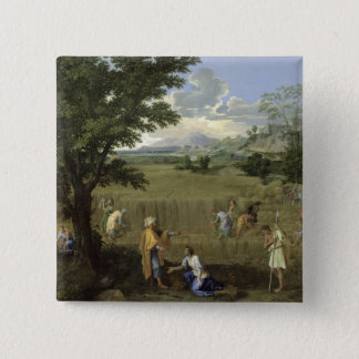 Summer, or Ruth and Boaz, 1660-64 2 Inch Square Button