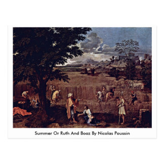 Summer Or Ruth And Boaz By Nicolas Poussin Postcard