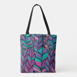 Summer Outfits Colorful Boho Style Canvas Tote Bag