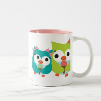 Summer Owls Two-Tone Coffee Mug