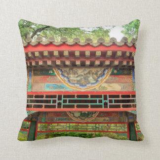 Summer Palace Bridge Detail Throw Pillow