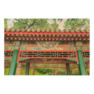 Summer Palace Bridge Detail Wood Print