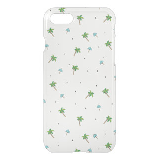 Summer Palm Pattern iPhone Case