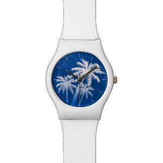 Summer palm trees watch