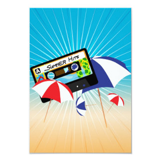 "Summer Party 3.5"" X 5"" Invitation Card"