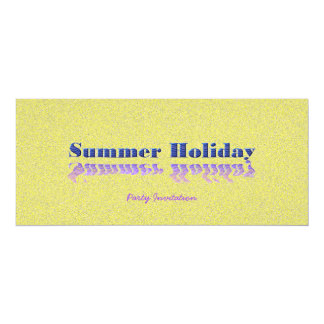 """Summer Party 4"""" X 9.25"""" Invitation Card"""