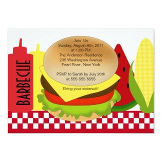 Summer Party Barbecue Invitation BBQ