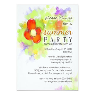 Summer Party - Floral Invitation