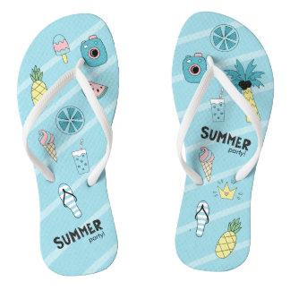 Summer Party! Fun Beach theme Flip Flops