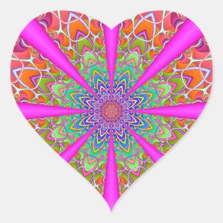 Summer Party Heart Heart Sticker