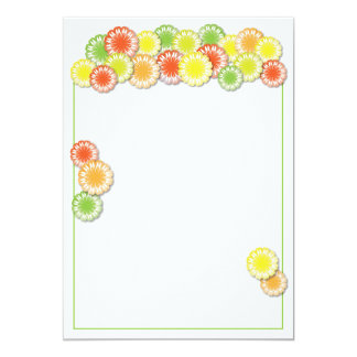 Summer Party Invitation | Yellow/Orange/Lime Daisy