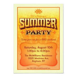 Summer Party Invite - Bright warm sunny  colors
