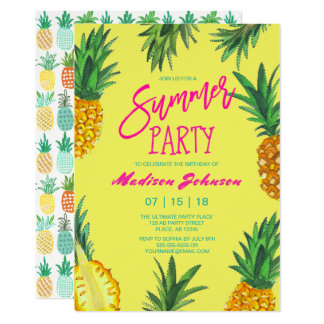 Summer Party | Pineapple | Invitations