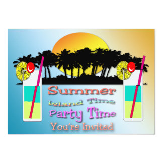 "Summer - Party Time Invitation 5"" X 7"" Invitation Card"