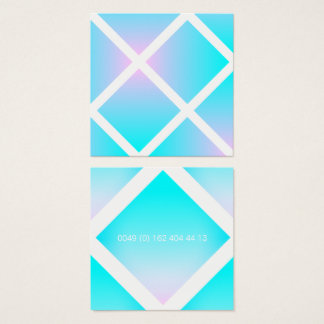 Summer Pastel Gradient Phone Number Square Business Card