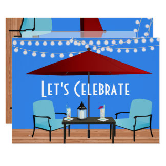 Summer Patio Party Card