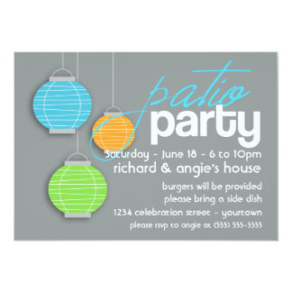 Summer Patio Party Invitations