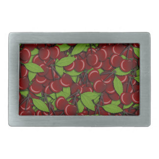 Summer pattern - Cherries Rectangular Belt Buckles