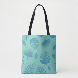 Summer Pattern with Decorative Palm Leaves Tote Bag