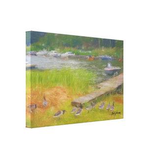 Summer Pier Canvas Print