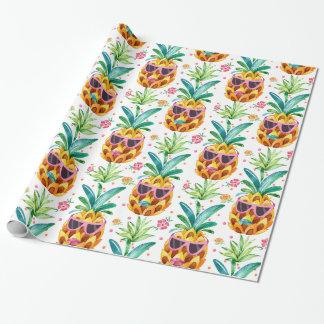 Summer Pineapple In Sun Glasses Pattern