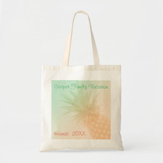 Summer Pineapple Personalized Tote Bag
