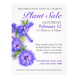 Summer plant sale hibiscus art promo flyer