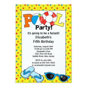 Pool party birthday invitations announcements zazzle ca summer pool party birthday invitation stopboris Gallery