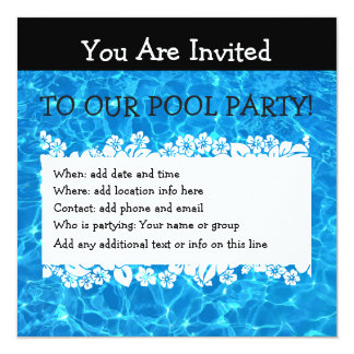 Summer Pool Party Invite